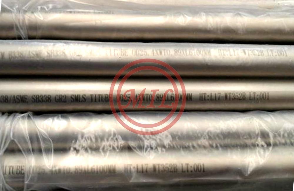 ASTM B338 GR2 metallurgy seamless titanium alloy tube corrosion resistance