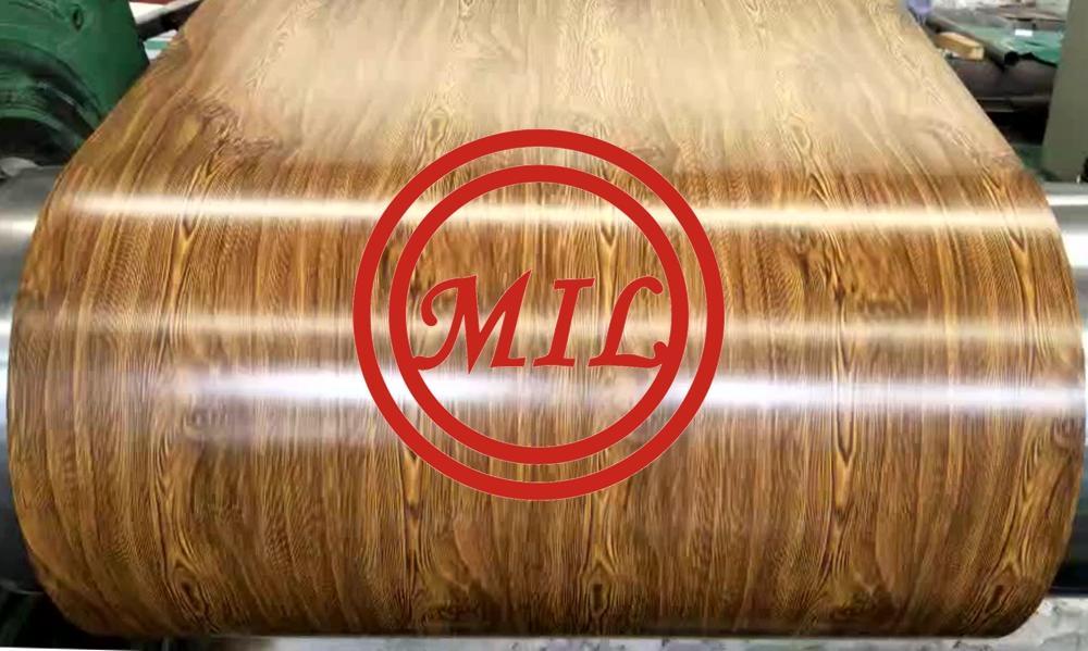 Color Coating Wood Grain Finished Ppgi Steel Sheet