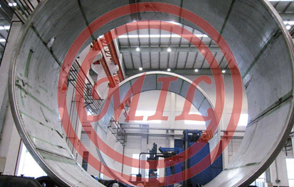 SB265 Gr.17 SA516 Gr.70 (8+118)x2650x6500mm Stainless Steel Clad Pipe