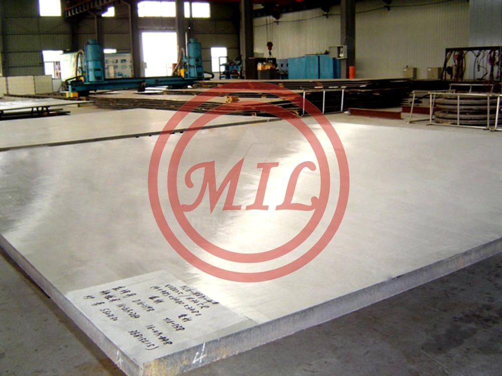 Titanium clad aluminum bimetallic plate