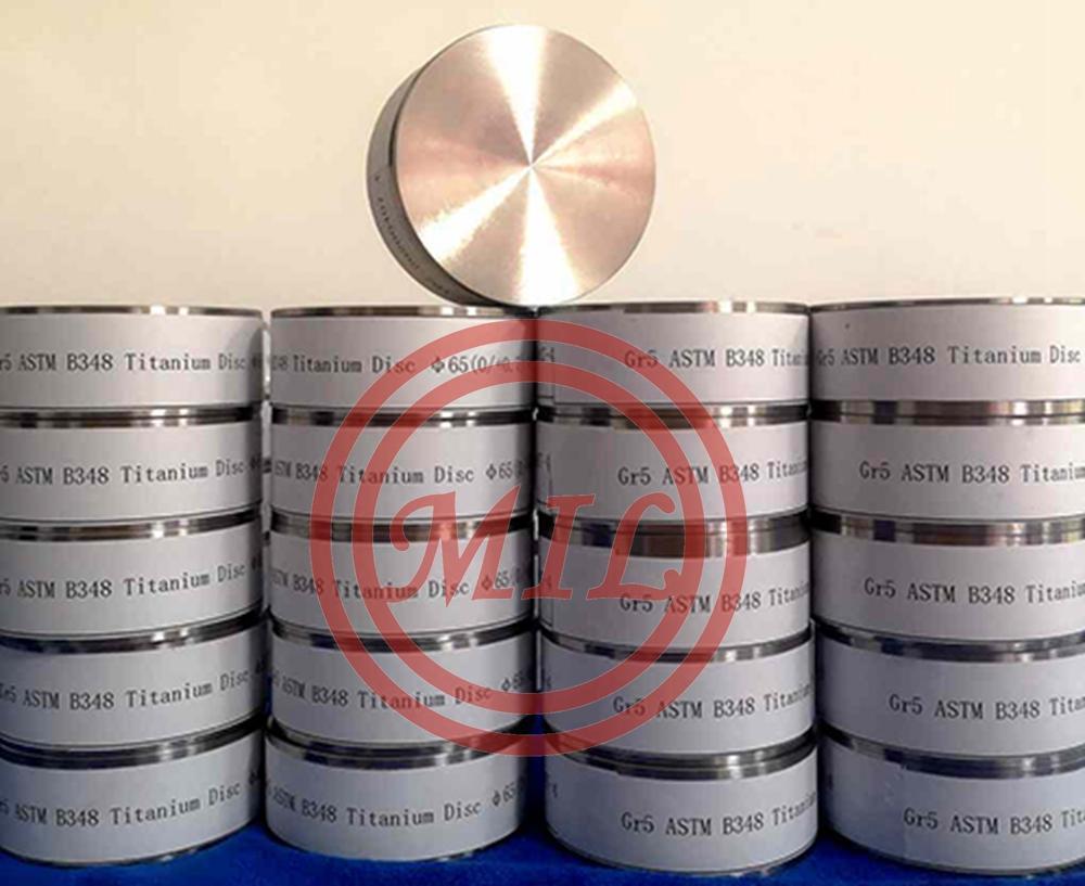 ASTM B348 Gr5 medical Titanium Disc