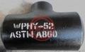 ASTM A860 WPHY60 Wrought High Strength Ferritic Steel Butt Welding Tee