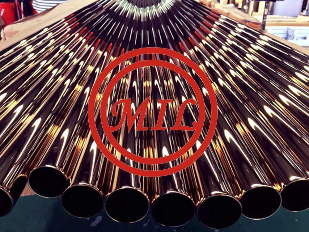 PVD Coated Titanium Tube