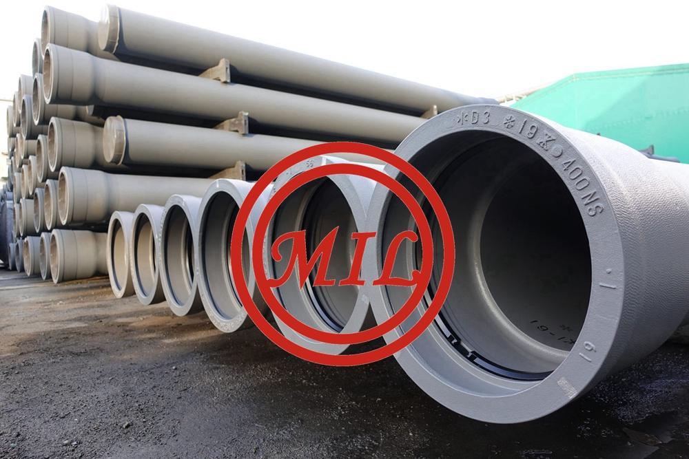 PU coating Ductile Iron Pipe Anti Rust 100% Water Pressure Test