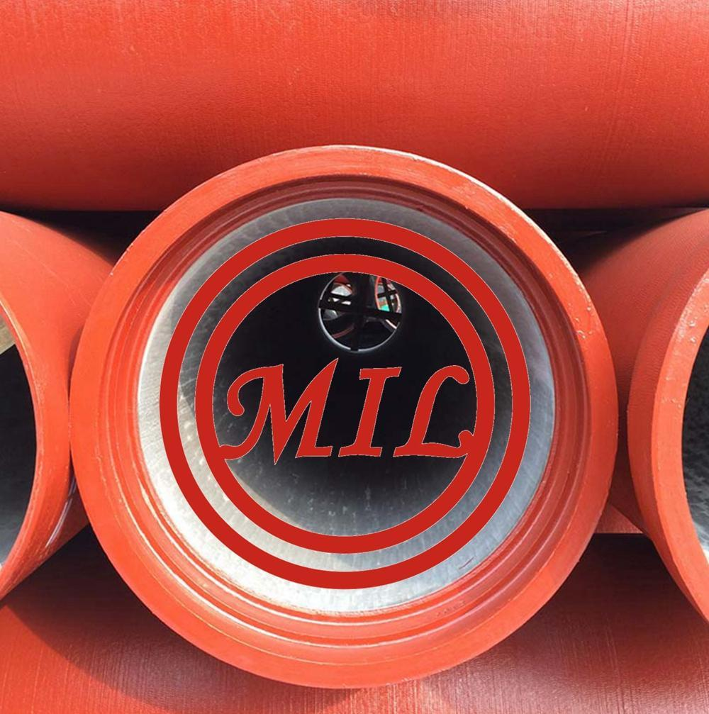 k9-ductile-cast-iron-pipes-with Red Epoxy Paint