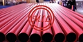 EN10255 235 RED EXPOXY  COATED ROLL GROOVED PIPE