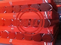 Red Painted Scaffolding Tube