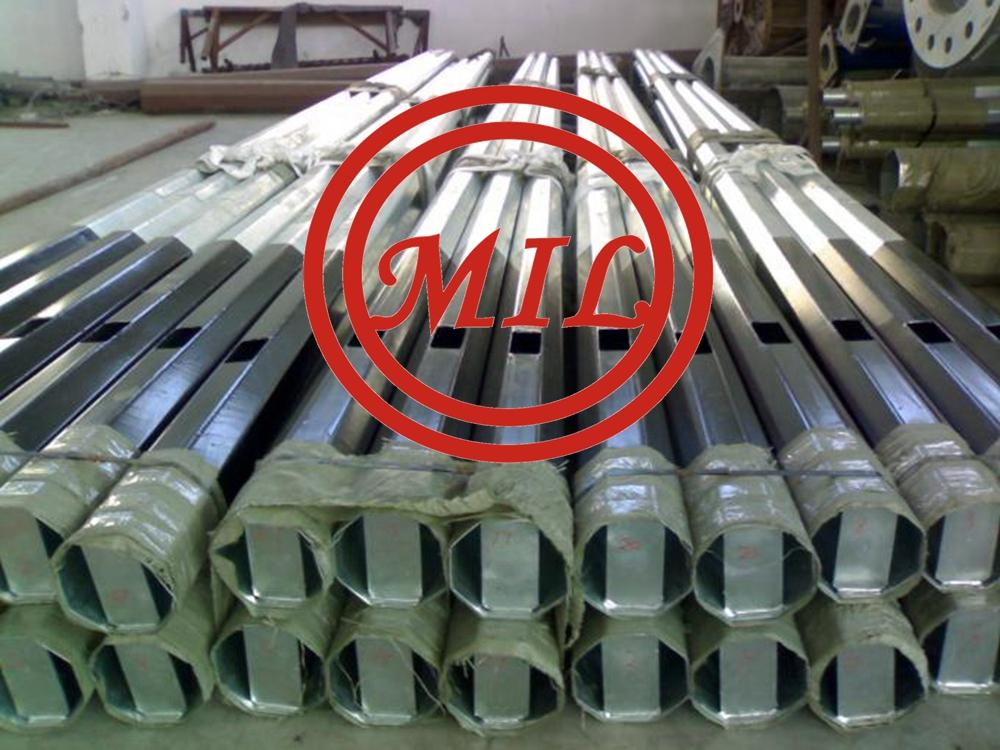 Galvanized Round Tapered 8m Outdoor Commercial Light Poles