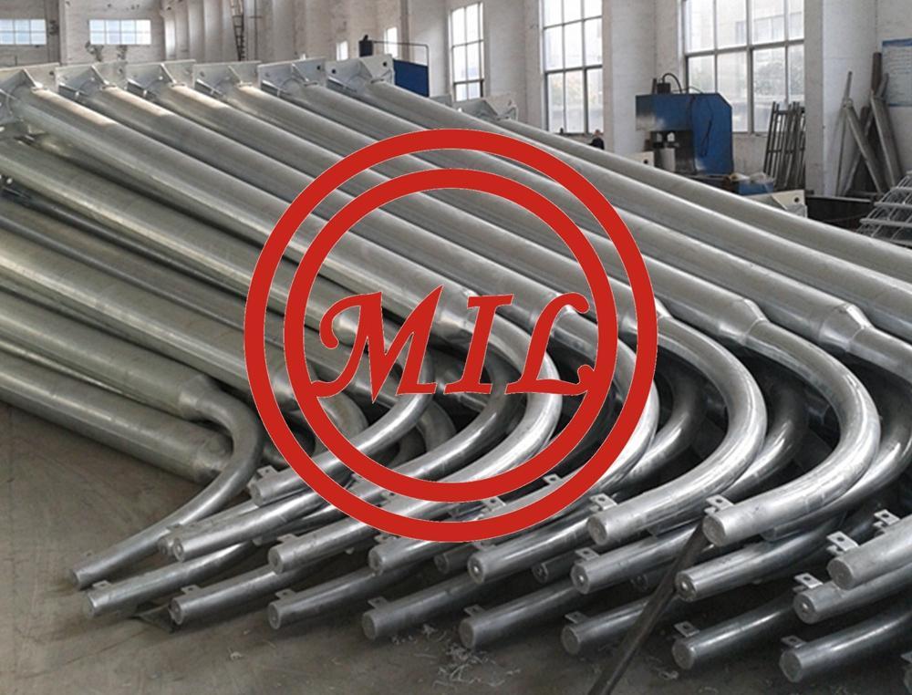 Conical Galvanized Lighting Steel Pole