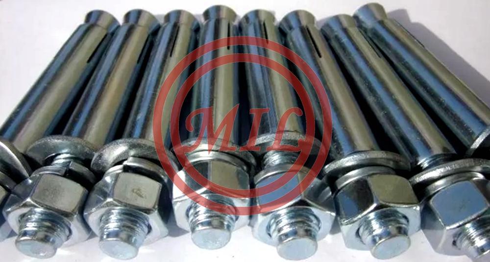 Nylon Elevator Screw Expansion Anchor Bolt Hex Nut For Slope Stabilization