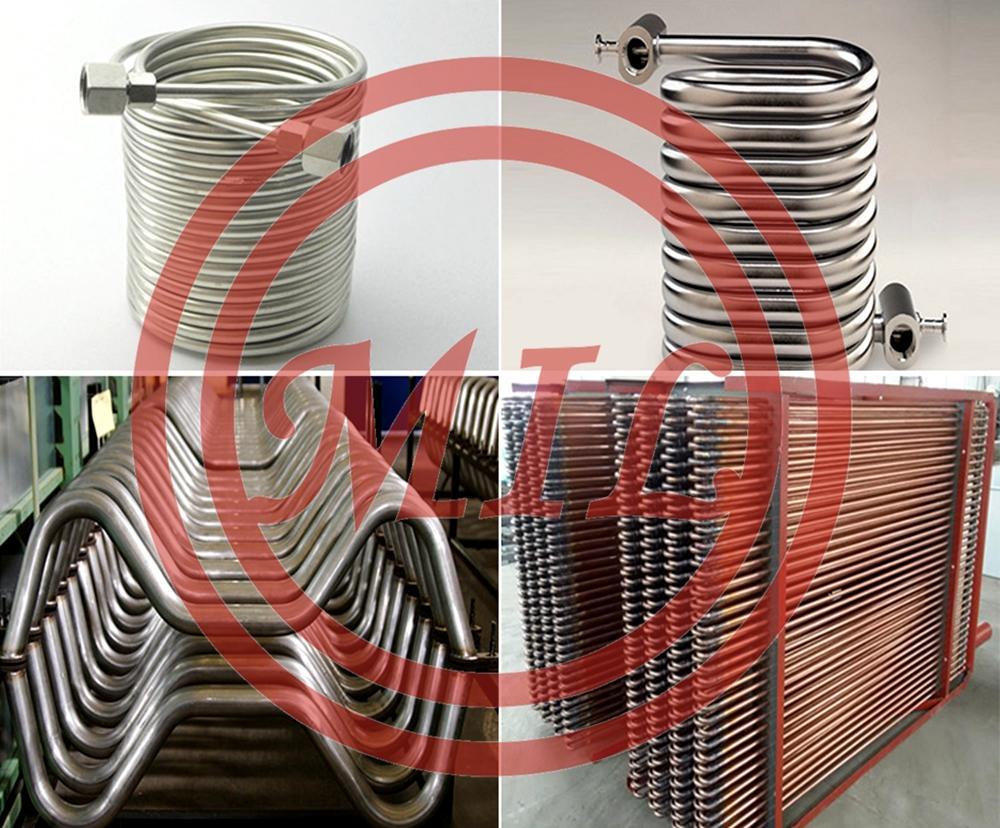 ASTM-B338-Gr-2 GR2 Titanium Coil Tubing For Chemical