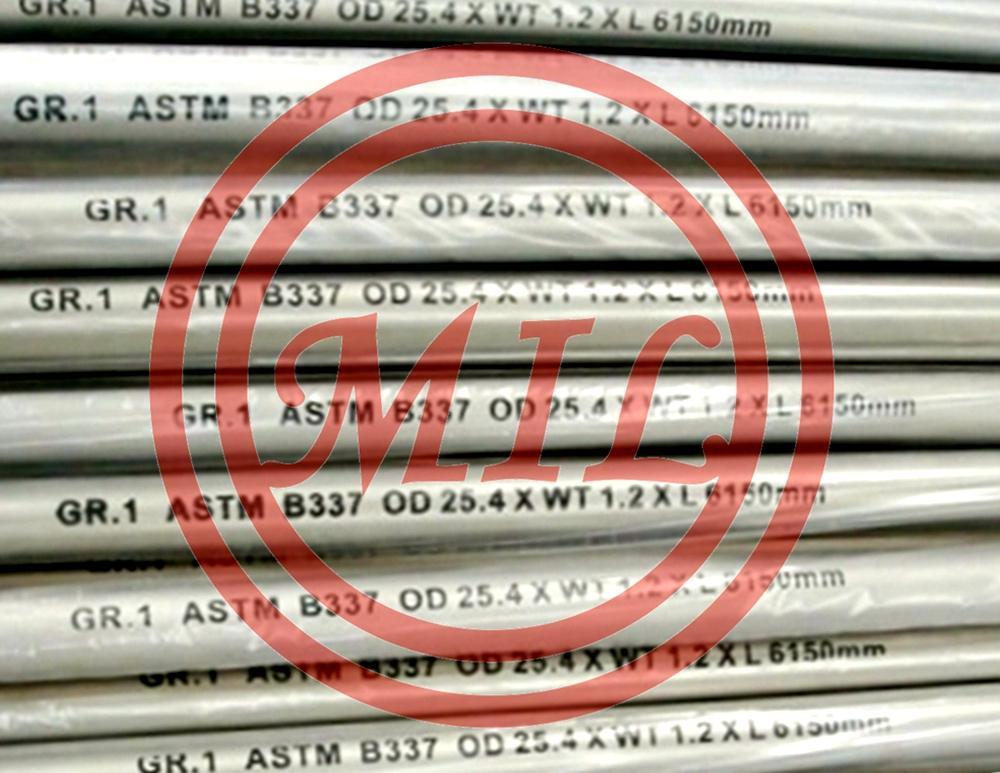ASTM B337 Gr1 Titanium Tube