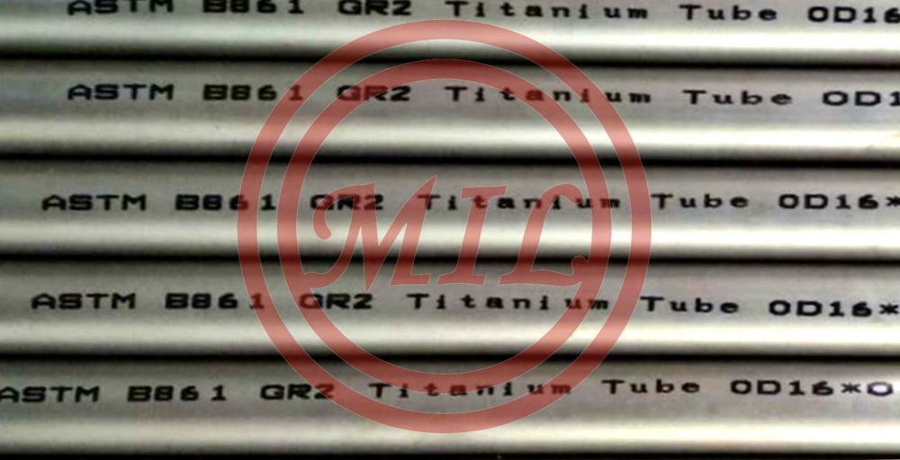 ASTM B861 Gr2 Titanium Alloy Seamless Pipe