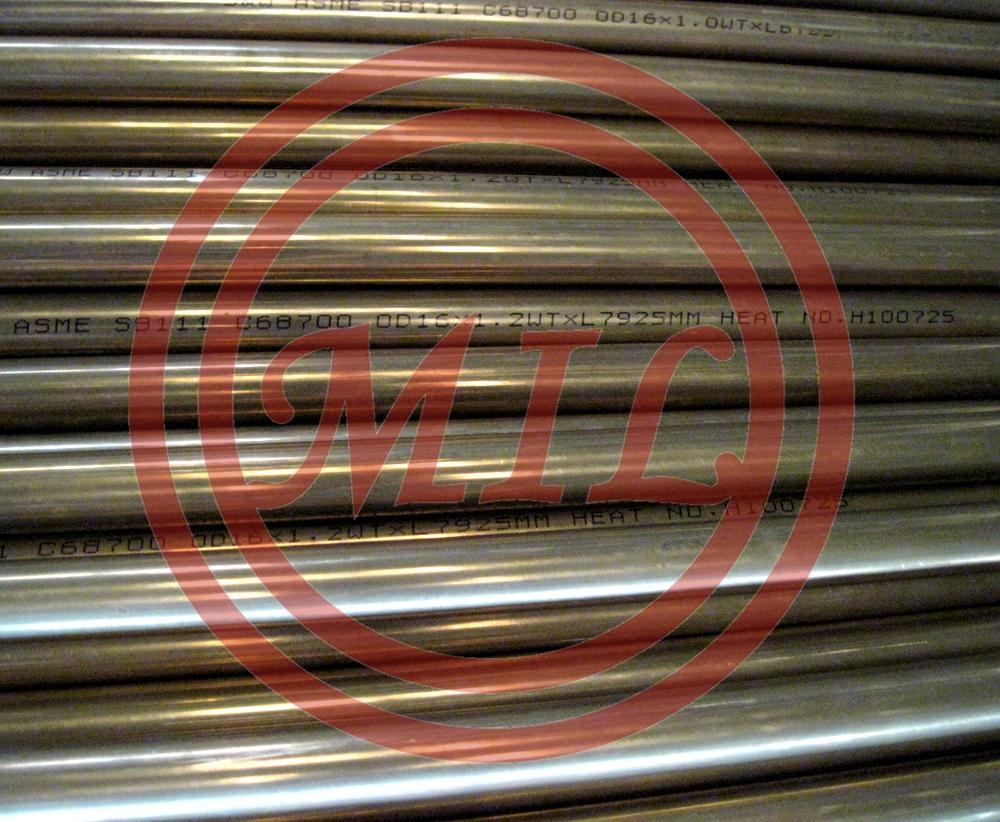 ASME SB111 C68700 Aluminum Brass Tube for Condenser and Heat-Exchangers