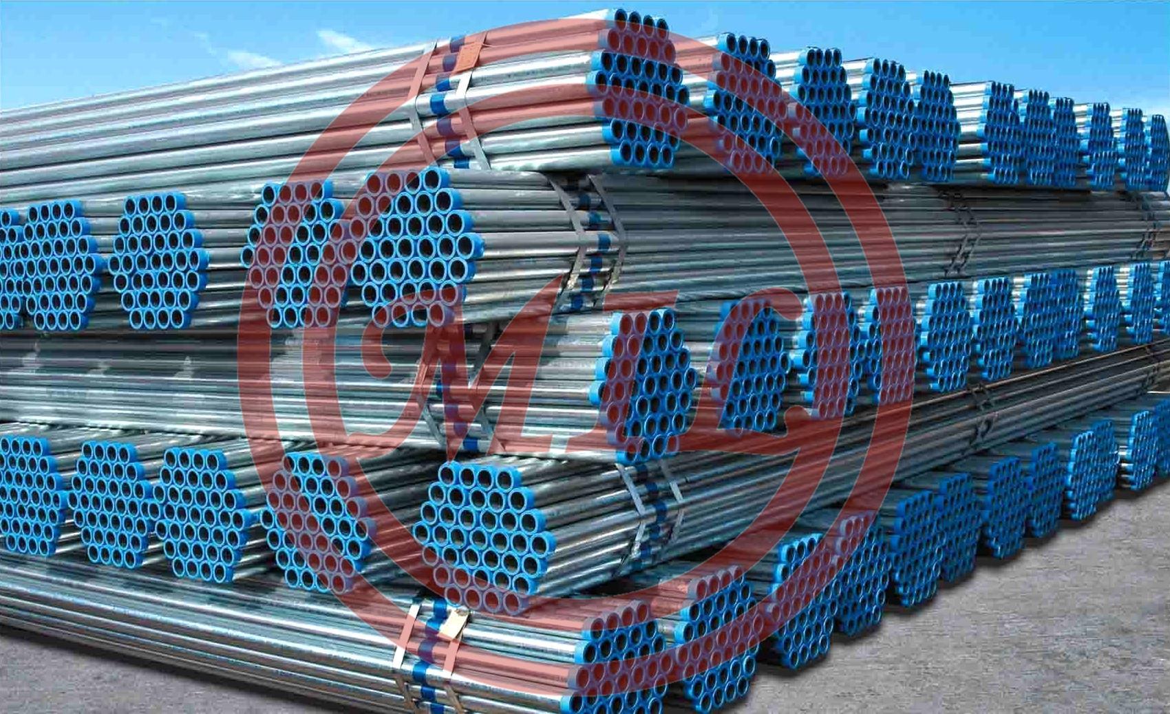 BS1387/ASTM A53/EN 39 Hot Dip Galvanized Steel Pipe