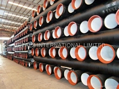ISO2531,EN545,EN598,BS4772,AS2280,KSD4311 Ductile Iron Pipe