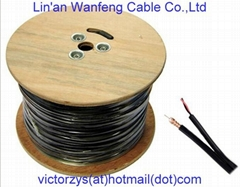 China Hangzhou Manufacture High Quality Composite Cable Rg59+2c Coaxial