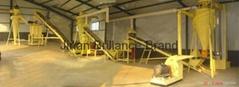 automatic production line biomass fuel wood pellet line