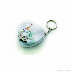 Heart shape mini candy tin with key ring