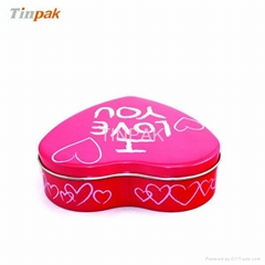 heart shaped Valentine tin packaging box