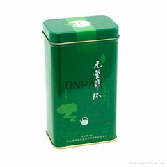 airtight rectangle metal tea gift box with sedex standard