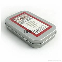 small hinged medical tin box supplier