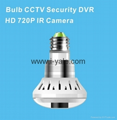 newest bulb cctv security DVR 720 IR camera
