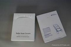 Quarter folded toilet seat covers