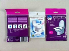 Pocket size toilet seat covers
