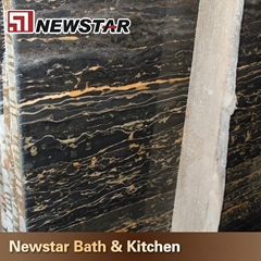 NMJ162 - Black & Gold Marble