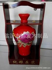 臨沂陶瓷酒壇木架