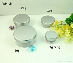 empty 3ml  5ml 10ml 20ml 30ml cosmetic  jar  with  aluminum lid