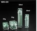 30gm 50gm plastic square cosmetic jar