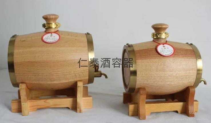不锈钢内胆实木酒桶 4