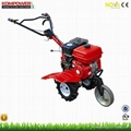 6.5HP gasoline tiller cultivator rotovator with rotary blades 2