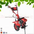 168F gear driven scale down farm tiller cultivator rotovator 4