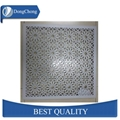 Perforated aluminium alloy wall