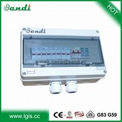 1-24 strings input solar junction box/PV combiner box with breaker, SPD lighting