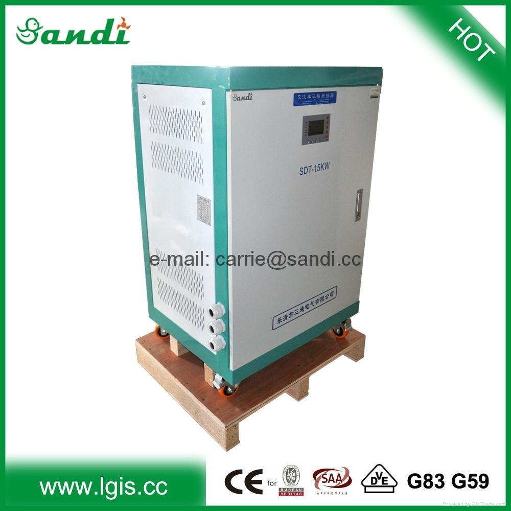 220v ac single phase to 380v 3 phase 60hz to 50hz for 3 phase motor to single phase