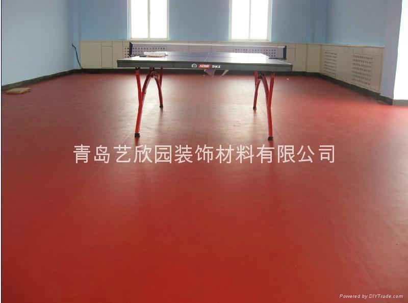 青島乒乓球PVC運動塑膠地板 3