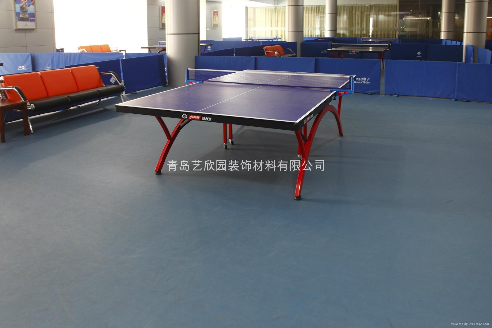 青島乒乓球PVC運動塑膠地板 5
