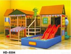 (HD-9304)Indoor Playground Facilities Wooden Indoor Playground