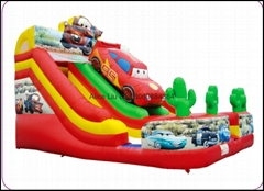 Cartoon  Car Inflatable Slide