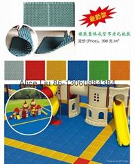 (HD-213)High quality flooring!Interlocking rubber floor tiles