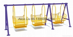 (HD-14802)Quality safe Outdoor iron swing With rubber seat