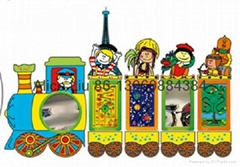 文化列车儿童墙面益智玩具