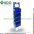 lcd display, recycle cardboard caton floor display with lcd screen 1