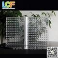 outdoor led glass screen for facade