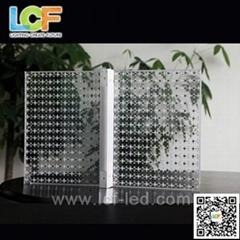 outdoor led glass screen for facade buiding construction