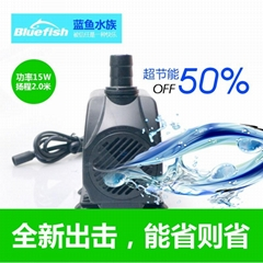 Three in one tank pumping filtering aeration brushless DC submersible pump